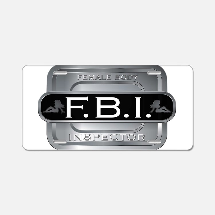 Female Body Inspector Aluminum License Plate