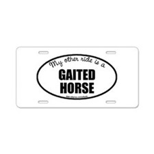 Gaited Horse Gifts Aluminum License Plate
