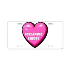 I Love My Icelandic Horse Aluminum License Plate