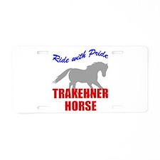 Pride Trakehner Horse Aluminum License Plate