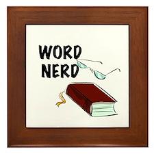 Word Nerd Framed Tile