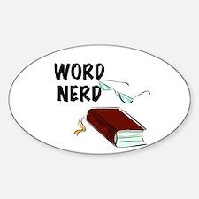 Word Nerd Decal