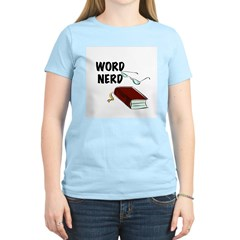 Word Nerd Women's Pink T-Shirt