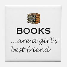 Girl's Best Friend (alt) Tile Coaster