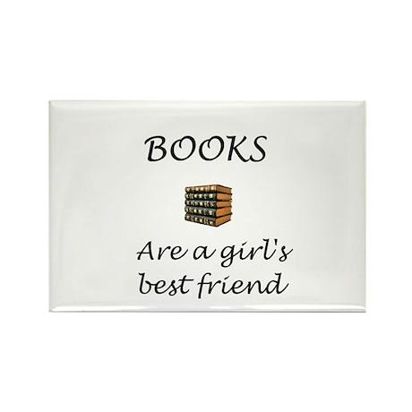 Girl's Best Friend Rectangle Magnet