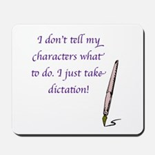 Character Dictation Mousepad