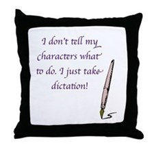 Character Dictation Throw Pillow