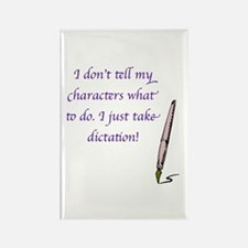 Character Dictation Rectangle Magnet