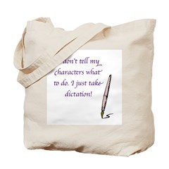 Character Dictation Tote Bag