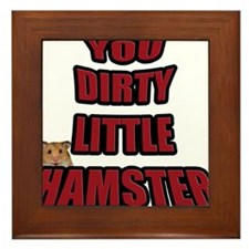 AMR Designs Dirty Hamster Framed Tile