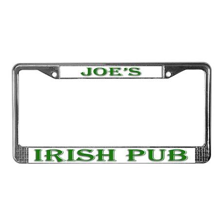 Joe's Irish Pub License Plate Frame