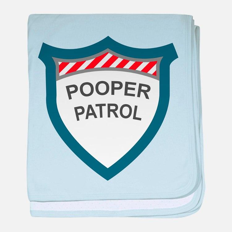 Pooper Patrol baby blanket
