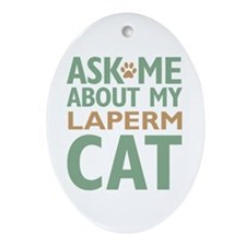 LaPerm Ornament (Oval)
