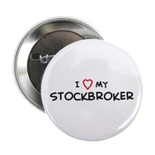 I Love Stockbroker Button