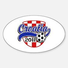 Croatia Soccer 2011 Sticker (Oval)