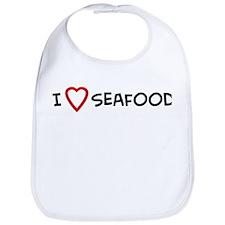 I Love Seafood Bib