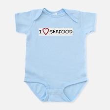 I Love Seafood Infant Creeper