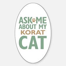 Korat Cat Sticker (Oval)