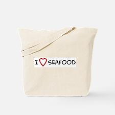 I Love Seafood Tote Bag