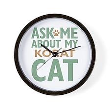 Korat Cat Wall Clock