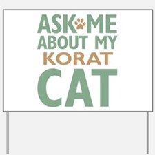 Korat Cat Yard Sign