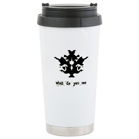 Ink Blot Test Stainless Steel Travel Mug