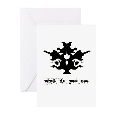 Ink Blot Test Greeting Cards (Pk of 10)