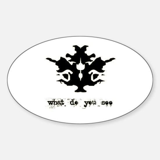 Ink Blot Test Sticker (Oval)