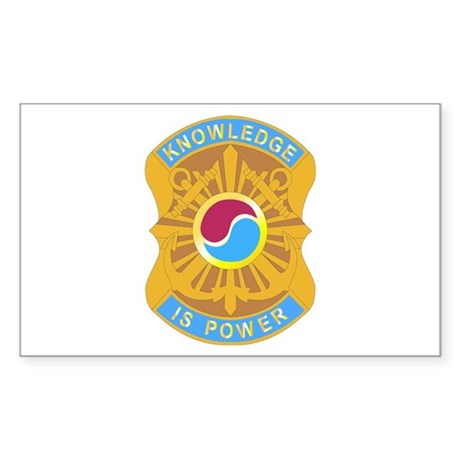 DUI - 163rd Military Intelligence Bn Sticker (Rect