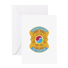 DUI - 163rd Military Intelligence Bn Greeting Card