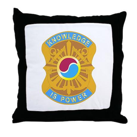DUI - 163rd Military Intelligence Bn Throw Pillow