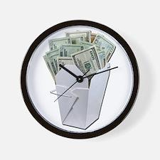 Money To Go Wall Clock