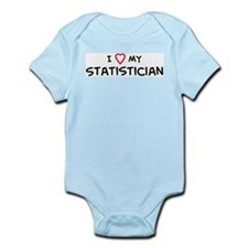 I Love Statistician Infant Creeper