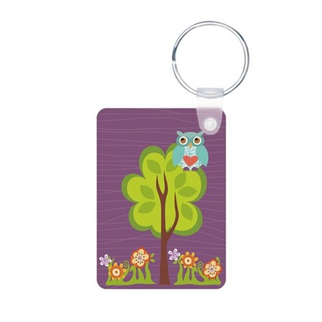Owl Fun Aluminum Photo Keychain