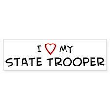 I Love State Trooper Bumper Bumper Sticker