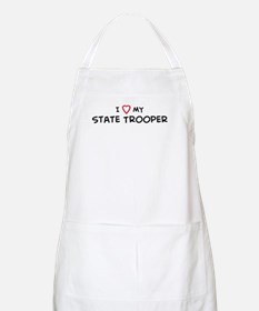 I Love State Trooper BBQ Apron