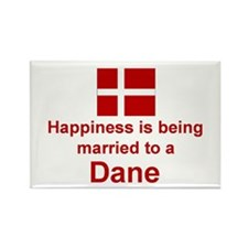 """Happily Married To A Dane Magnet (3""""x2"""")"""