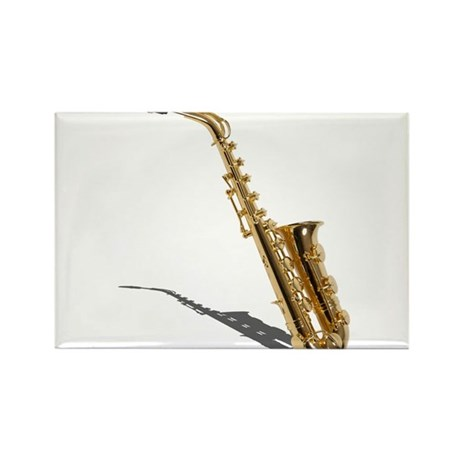 Saxophone Rectangle Magnet (10 pack)