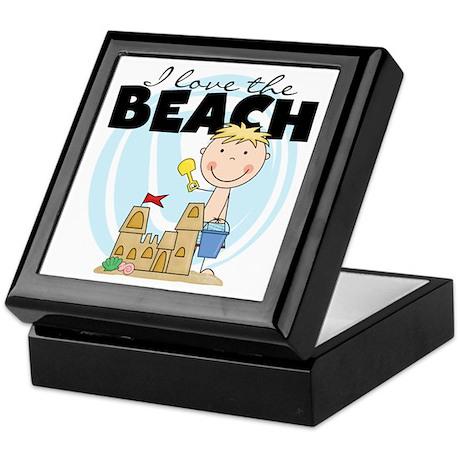 Blond Boy Love the Beach Keepsake Box