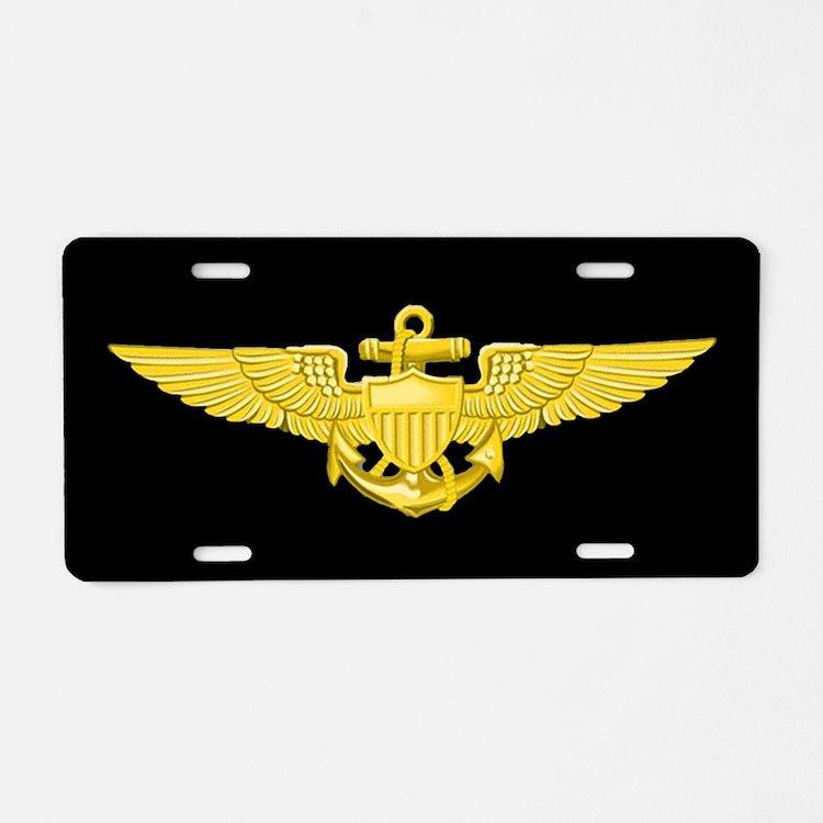 Navy Pilot License Plate