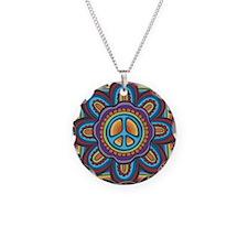 Hippie Peace Flower Necklace