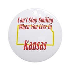 Can't Stop Smiling in KS Ornament (Round)