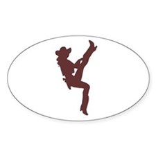 """""""Cowgirl"""" Oval Bumper Stickers"""