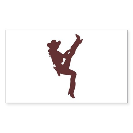 """""""Cowgirl"""" Rectangle Sticker"""