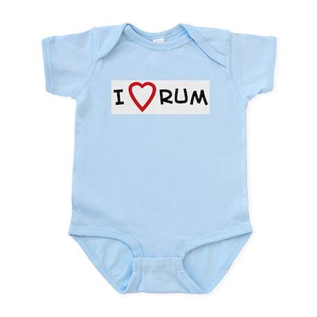 I Love Rum Infant Creeper