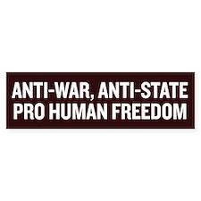 Anti State Bumper Sticker