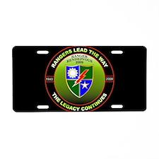 Ranger Rendezvous License Plate