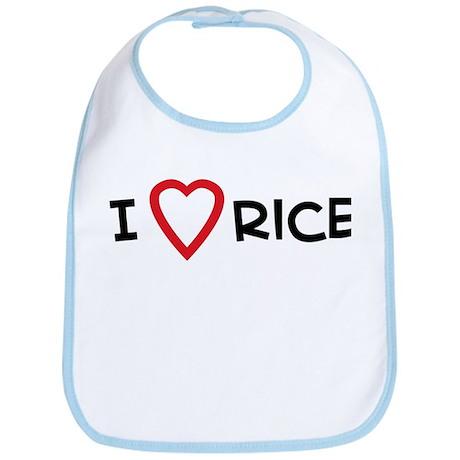 I Love Rice Bib