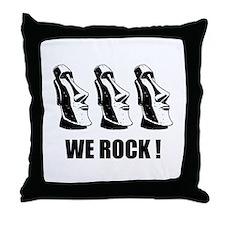 Easter Island: We Rock Throw Pillow