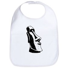 Easter Island Head Bib